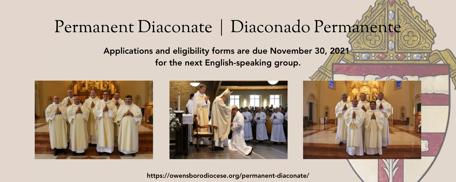 Apply today to become a permanent deacon.